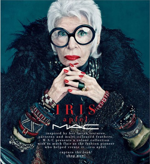 Iris Apfel for MAC cosmetics