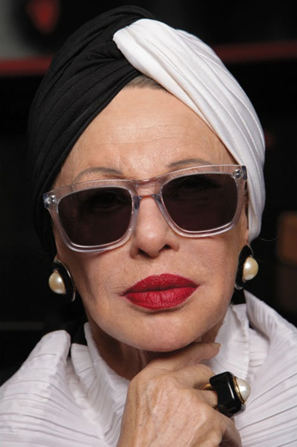 Model: Lynn Dell, 80 years old from Karen Walker Eyewear & Advanced Style