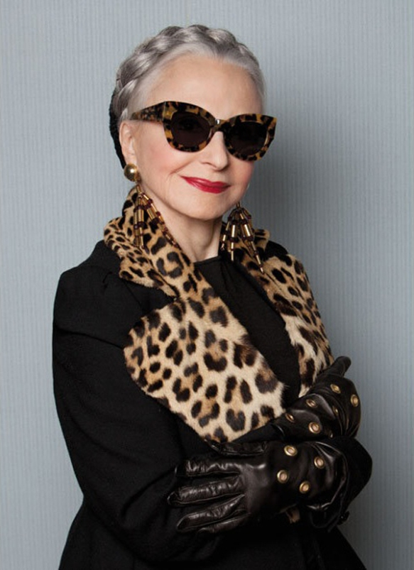 Model: Joyce Carpati, 80 years old from Karen Walker Eyewear & Advanced Style